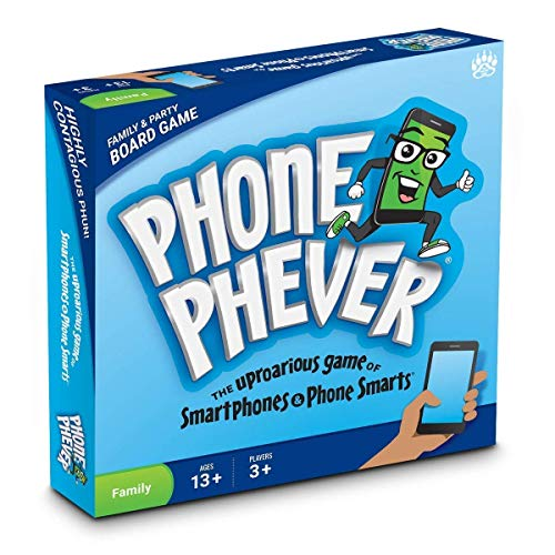 Phone Phever Board Game - New Fun Fast-Paced Family-Friendly Party Board Game - It's a Phonetastic Race to Answer Fascinating Trivia Questions & Complete Hilarious Challenges!