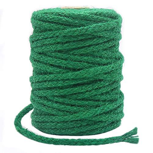 Cuerda de yute de 5 mm, trenzada, de 100 pies, para jardín