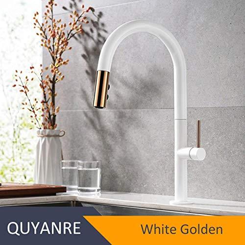 5151BuyWorld waterkraan, wit tot zwart, keukenkraan, luxueus, messing, mengkraan, keukenkraan, mengkraan, mengkraan, waterkraan, keukenkraan White Golden