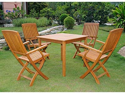 Amazon.com - EcoDecors Tranquility 35in Teak Dining Table ...