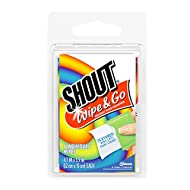 Shout Wipe and Go Instant Stain Remover, for On-the-Go Laundry Stains, 4 Count - Pack of 24 (96 Total Wipes)