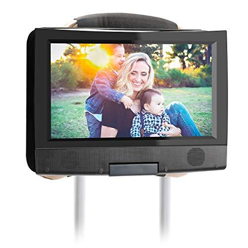 Hikig Kopfstützenhalterung DVD Player Auto, Universal DVD-Player Halterung : KFZ-Kopfstützen Halterung für 7 bis 11 Zoll Tragbare DVD-Player mit Drehbarem Bildschirm - Farbe: Schwarz