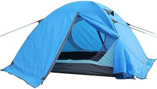 GFF Tente de Camping de 3-4 Personnes 4 Saison extérieure de Polonais en Aluminium de Double Couche de Saison Devoir être assemblé pour Les Sports en Plein air