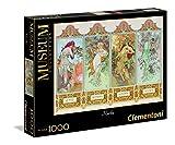 Clementoni - Puzzle de 1000 Piezas, Arte Moderno, diseño Mucha: Las 4 Estaciones (391776)