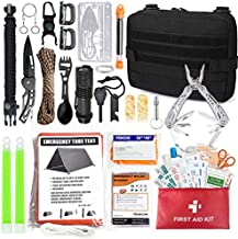 TOUROAM Emergency Survival First Aid Kit - 99PCS Outdoor Camping Hiking Gear Tool Bag, Gift for Father Men, Tactical Molle Admin Pouch, Military IFAK Bug Out Backpack Tent Shelter
