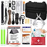 TOUROAM Emergency Survival First Aid Kit - 99PCS Outdoor Camping Hiking Gear Tool Bag, Gift for...
