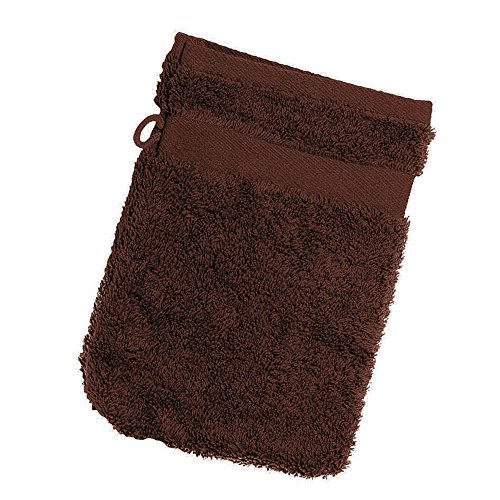Jassz - Gant de toilette (350g/m²) (Lot de 2) (Taille unique) (Chocolat)