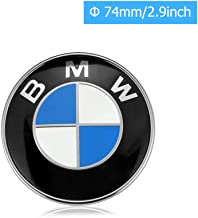BMW Emblems Hood and Trunk, BMW Emblem Logo Replacement 74mm for ALL Models BMW E30 E36 E46 E34 E39 E60 E65 E38 X3 X5 X6 3 4 5 6 7 8 (74mm)