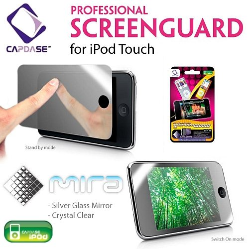 Capdase Professional Screen Guard - iPod Touch 2nd Generation 8GB / 16GB / 32GB (Silver Galss Mirror)