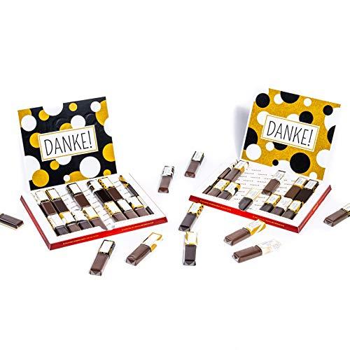 NEU Aufkleber Set für Merci Schokolade (passend für 250g Box mit 20 Riegeln) - Ganz persönlich Danke sagen - Kreative Dankeschön Geschenke für Ihre Liebsten (Schokolade nicht im Set enthalten)