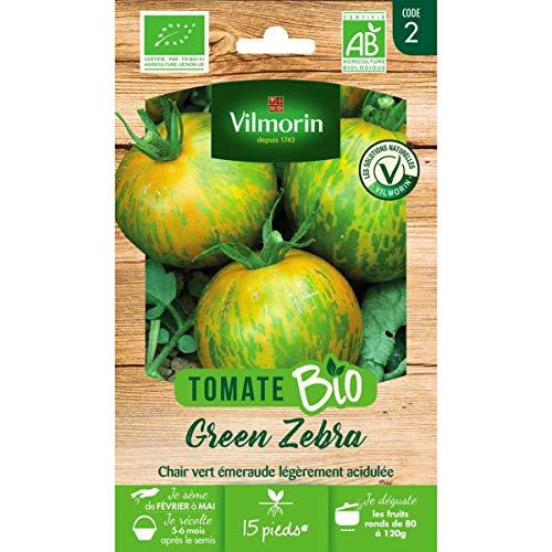 Vilmorin - Sachet graines Tomate Green Zebra BIO