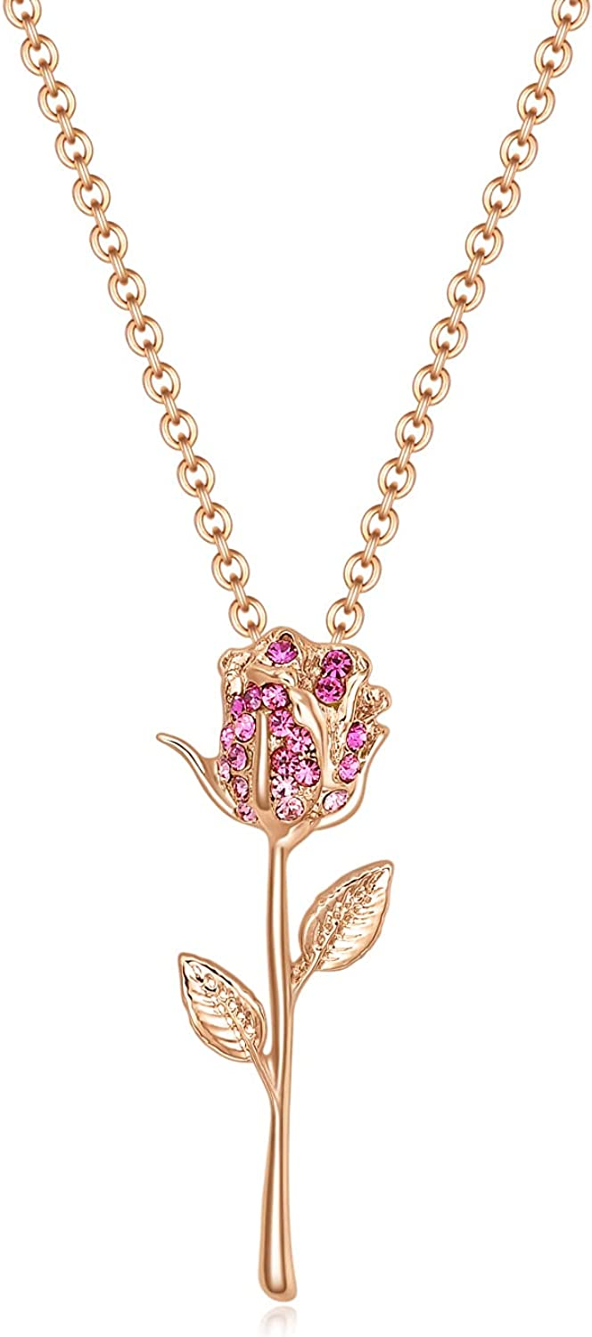 luomart Flower Edelweiss Max 80% OFF Pendant Sunflower NecklaceEarrings Dai Large special price !!