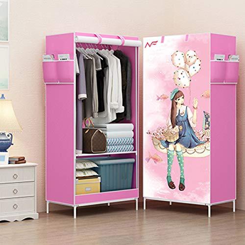 FEKGHJMO Cloth Wardrobes Storage Cabinet Vlies Panorama Folding Cloth Closet Wardrobe Kleiner Kleiderschrank