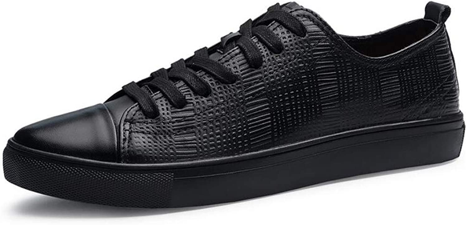 Zxcvb Men's Casual shoes, Autumn And Winter Fashion shoes Outdoor Low-top Belt PU Business shoes