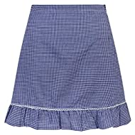 Girls Gingham School Skirts Available in 6 colours - Ages 5-16 Years Elasticated Back Brand New
