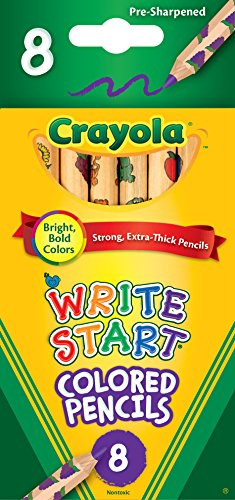 Crayola Write Start Colored Pencils, Classic Colors, 8 Count, Assorted (CYO684108)