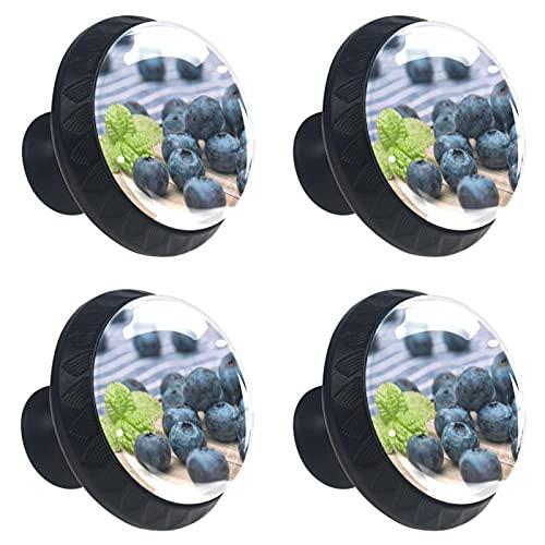 4 boutons d armoire poignées de tiroir en verre cristal,living blueberry,pour porte cuisine bureau commode