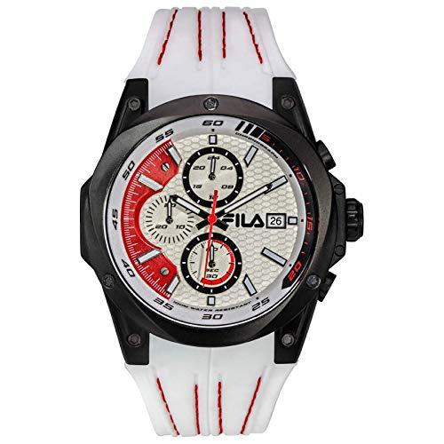 Fila Unisex Erwachsene Analog Quarz Uhr mit Silikon Armband FILA38-823-001