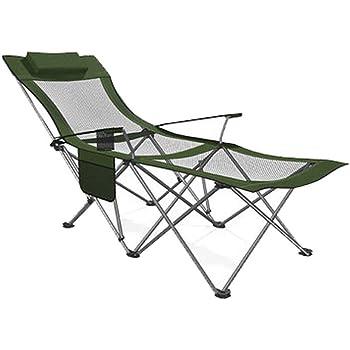 CATRP Chaises de camping Pliante Chaise Longue Portable À