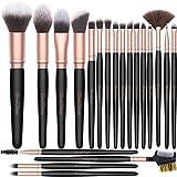 Brochas de Maquillaje EmaxDesign 20 piezas Sintético Premium Pinceles de maquillaje Profesional de Cepillos Corrector Contorno Base Polvo de Sombras de Ojos Rubor Juego de Brochas (Oro Rosa)
