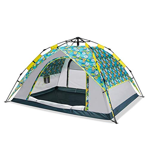 BRISEZZ Camping Tent Instant Setup - Waterproof Pop Up Lightweight Easy Up Tent Fast Pitch 3-4 Man Tent for Camping Backpacking,2 HRTT (Color : 1)