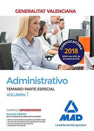 Administrativo de la Generalitat Valenciana. Temario Parte Especial volumen 1