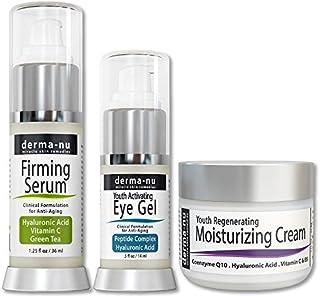 Cuidado de la Piel Antiedad - Tratamiento Eficaz Anti Arrugas (Suero de Ácido Hialurónico Crema Ojos Antiarrugas Crema H...