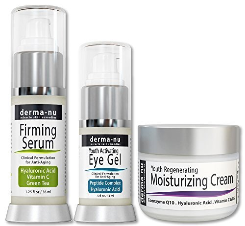 Skin Care Products For Anti Aging - Organic &Amp; Natural Facial Treatments For The Skin - The Most Effective Skincare For Fine Lines &Amp; Wrinkles - Hyaluronic Acid Serum - Eye Wrinkle Gel - Anti Aging Skin