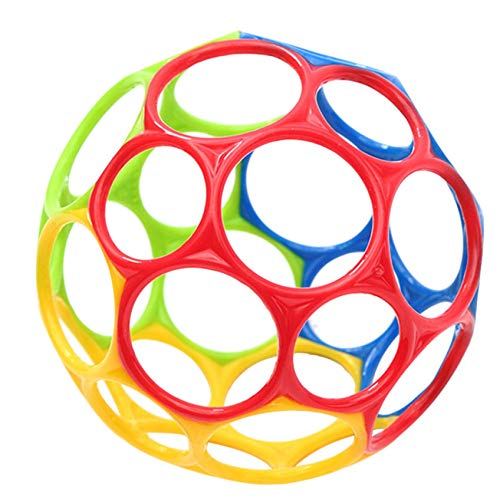 Baby Spielzeug Oball Greifball Classic - Flexibles und leicht greifbares Design, für Kinder jeden Alters, Bunt (Mehrfarbig)