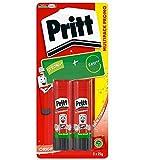 Pritt Colla Stick 2 x 22g, colla per bambini sicura e affidabile, colla Pritt per lavorett...