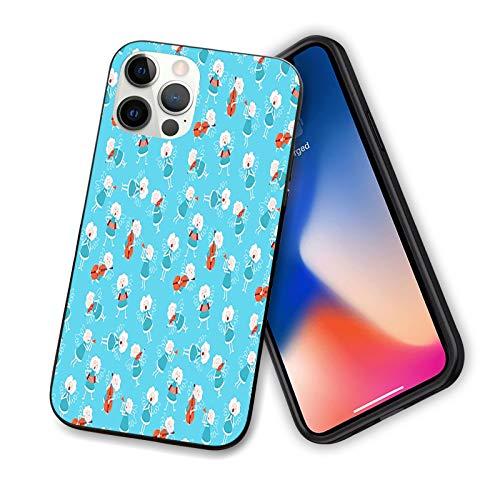 Angel diseñado para iPhone 12 Pro, funda de silicona a prueba de golpes con forro antiarañazos, 15,5 cm, color azul, rojo y blanco