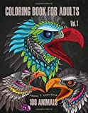 Coloring Book for Adults Vol.1: Designed as 109 images of animals | Graphic Design Crafts & Hobbies | Humor & Entertainment | Animal Coloring Books ... & Home Mandalas & Patterns Coloring Books