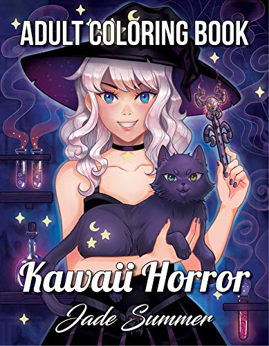 Kawaii Horror: An Adult Coloring Book with Adorable Girls, Spooky Scenes, Mysterious Places, Scary Adventures, and More!