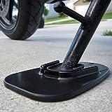 Pie para pata de cabra para motocicleta de Lorcoo, soporte de pata, negro