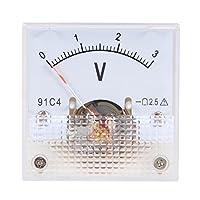 uxcell 電圧計 アナログパネル電圧ゲージ DC 0-3V 誤差マージン2.5% 91C4