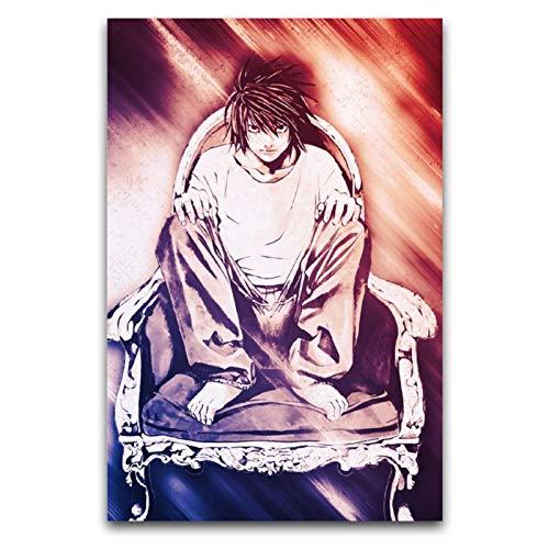 ZSBoBo Anime Death Note Lawliet Squatting In A Chair Poster, dekoratives Gemälde, Leinwand, Wandkunst, Flur, Tanzen, Club, Studium, Raumdekoration, Poster, 30 x 45 cm