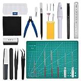 THETHO 26 PCS Modeler Basic Tools, Herramientas Básicas para Manualidades, Construcción, Artesanía, Kit de Herramientas Building Modelos para Reparación y Fijación de Modelos Básicos