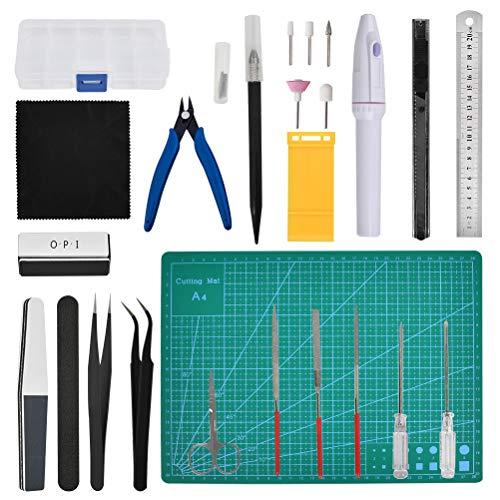 THETHO 26 Stück Gundam Modeler Grundwerkzeuge, Modellbau Werkzeugsatz Modellbau Werkzeuge für Automodell Montagebaukasten