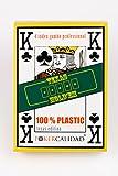 Poker calidad Baraja de cartas poker 100% plástico , impermeables , larga duración