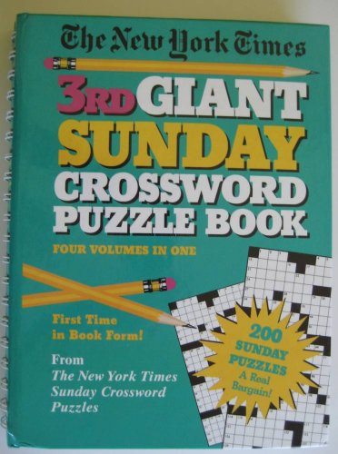 New York Times Third Giant Sunday Crossword Puzzle Book