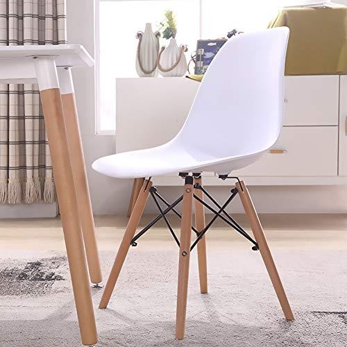 Moderna silla de comedor simple, taburete de ordenador, respaldo creativo de moda, silla de hotel, patas de plástico antideslizante, material plástico ABS antideslizante, ergonómico. moderno Size 4
