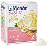 BiManán beSLIM - Natillas Sustitutivas Sabor Limón, para ayudarte a controlar tu peso - 6 Unidades, 300g
