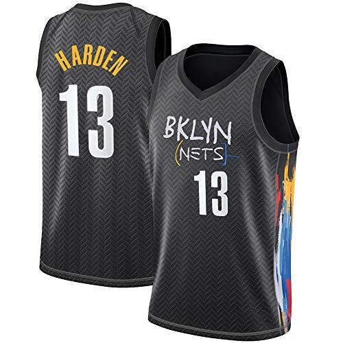James Harden Jersey para Hombres Y Mujeres, New Season Brooklyn Nets 13# Camisetas De Baloncesto, Camisetas Sin Mangas Unisex City Edition Camisetas Deportivas De Entrenamiento,B,XL