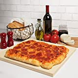 CucinaPro Pizza Stone for Oven, Grill, BBQ- Rectangular Pizza Baking Stone- XL 16' x 14' Pan for...