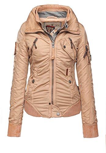 khujo Damen Übergangsjacke, Farbe:Peach;Größen:XL - 42