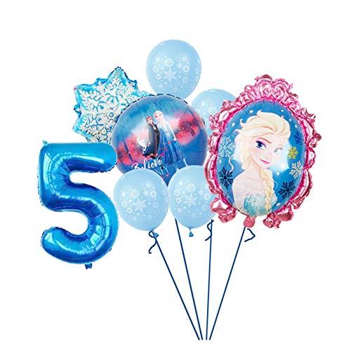 YSJSPOL Balloon 1 set girl foil balloons princess balloon birthday party decorations kids toys Party (Color : 5)