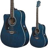 Lindo Guitarra acústica eléctrica de sauce para zurdos, con preamplificador y sintonizador digital, bolsa acolchada
