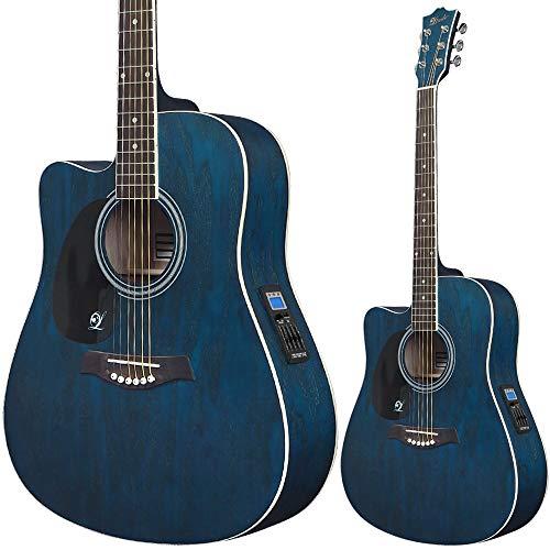 Lindo Guitarra acústica eléctrica de sauce para zurdos con preamplificador y afinador...