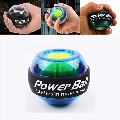 Flower Bola De Fuerza De Muñeca LED Entrenador De Bola De Muñeca Giroscopio Intensificador Giroscopio Power Ball Brazo Ejercitador Gym Fitness Equipment 1 Piezas * Azul