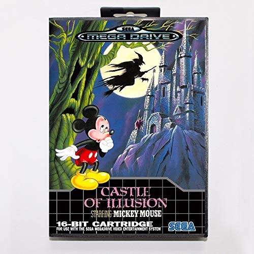 ROMGame Castle Of Illusion Starring Mickey Mouse Game Cartridge 16 Bit Md Game Card With Retail Box For Sega Mega Drive For Genesis
